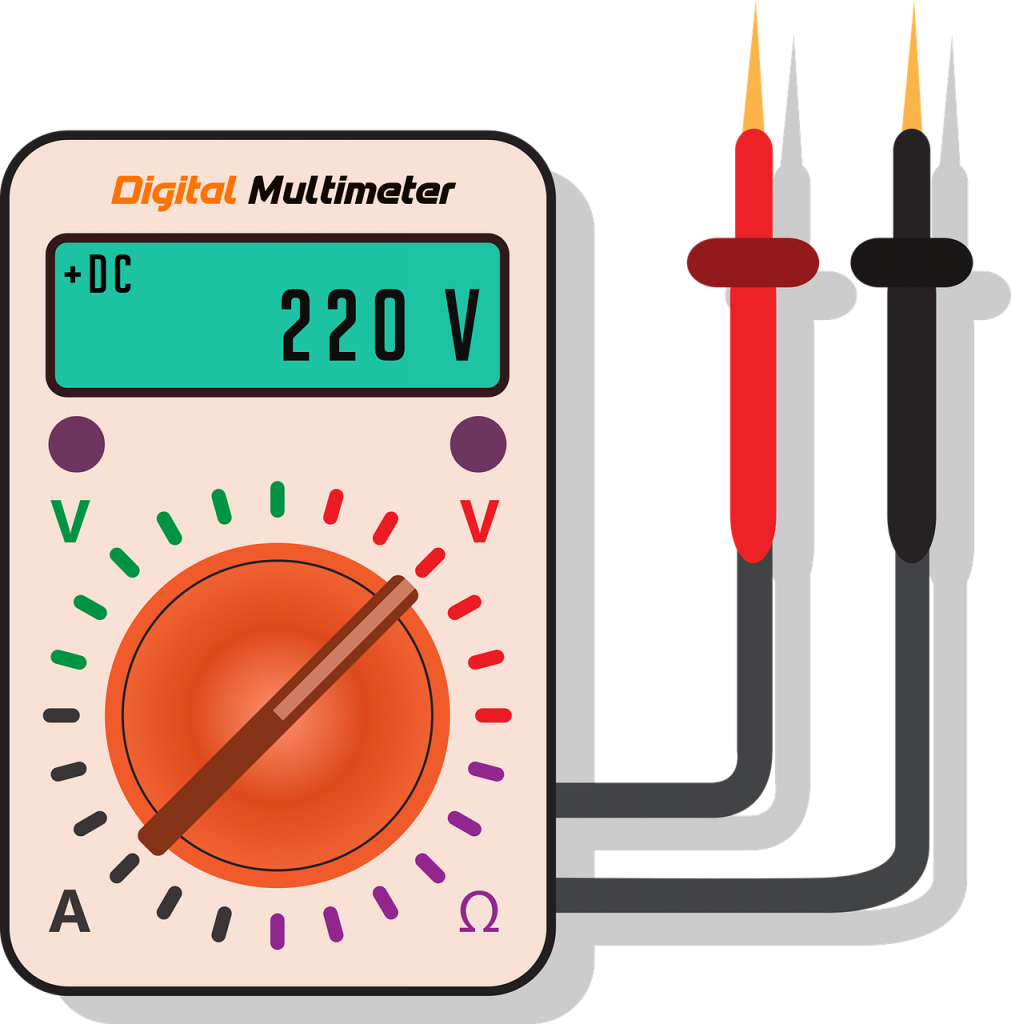 Multimeter showing voltage (topic: How to use multimeter)